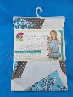 "Me & My Doll Apron Kit Fabric Panel Daisy Kingdom Fits Child S M L and 18"" Doll  #DaisyKingdom"