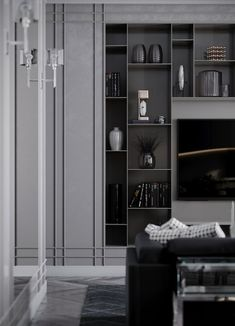 Unbelievable living room storage unit cabinets for your cozy home - Home Design Inspiration Living Room Cabinets, Living Room Grey, Living Room Modern, Living Room Interior, Tiny Living, Interior Livingroom, Kitchen Interior, Luxury Home Decor, Luxury Interior