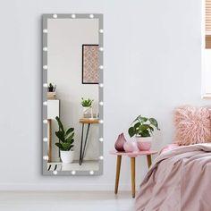 Full Length Vanity Mirror With Lights, Full Body Mirror, Mirror With Led Lights, Bulb Mirror, Lighted Vanity Mirror, Mirror Vanity, Vanity Decor, Mirrors, Dressing Room Mirror