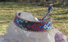 Bohemian Boho Chic macrame woven friendship luxury bracelet handmade rhinestone #Handmade #Friendship