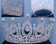 The Dutchess of Andalucia rhinestone Queen Princess Bridal Crown Tiara