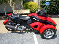 "2009 Can Am Spyder SE5 for sale at Wengers of Myerstown Only $15995 SOLD This Can Am sold before it ever even hit the showroom. It was in the parking lot while I was inside looking for an empty space to put it. I guy told me that he had never ridden before and said if I could teach him to ride it he would buy it. Five minutes later he was zipping around the parking lot grinning from ear to ear yelling ""I'll take it."""