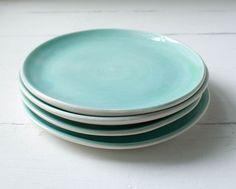 Aqua Dessert Plates by SuiteOneStudio