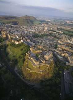 Edinburgh and Castle, Scotland