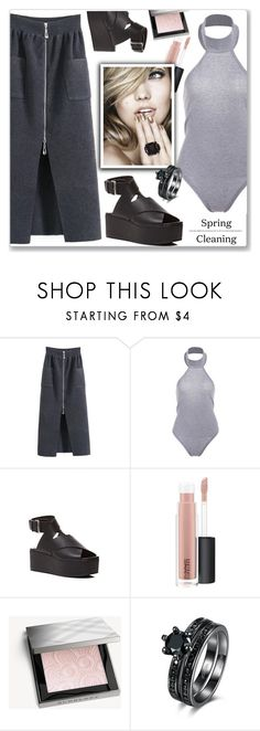 """""""Street Style"""" by jecakns ❤ liked on Polyvore featuring MAC Cosmetics and Burberry"""