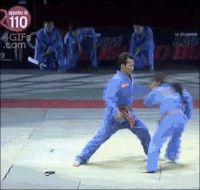 Karate Girl Flips Bigger Opponent GIF - Find & Share on GIPHY