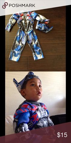 🔴3 FOR $20🔴Optimus Prime Costume Size 2T Cute Optimus Prime Costume for your little one.  It's in good condition.  No rips or stains.  The mask covers all the eyes. Transformers Optimus Prime Costumes Halloween