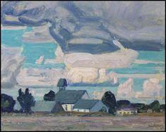 Cloudy Sky, Thornhill Church, 1931 by J. E. H. MacDonald. Post-Impressionism. cloudscape
