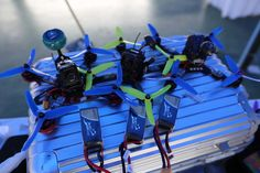 There are our FPV pilot equipped
