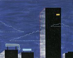 Night Office by alidouglass on Etsy