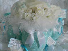 Pieza central de la boda, decoración de la boda, elegante lamentable de la boda, la boda de Tiffany, Baby Shower, Despedida de Soltera, aguamarina, bodas, azul de Tiffany