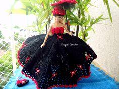 #Doll #Vestido #Crochet #Barbie #Crochet #Muñeca  #Cléa5 #RaquelGaucha #Dress