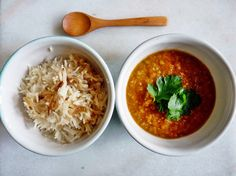 rakottkert: Indiai vöröslencse és rizs