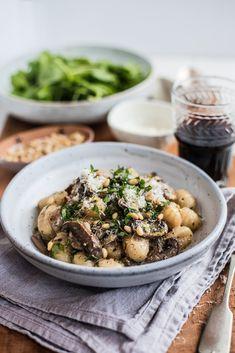 Creamy Mushroom & Garlic Gnocchi | The Hungry Cook