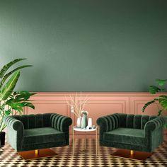 PANTONE's 2020 colour forecast includes natural blues & greens Green Interior Design, Interior Walls, Interior And Exterior, Interior Sketch, Simple Interior, Interior Plants, Interior Lighting, Beauty Room Decor, Loft Design