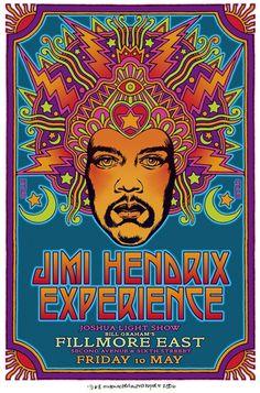 Jimi Hendrix - Fillmore East - Mini Print
