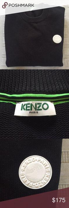 KENZO Paris Men's Sweater, Size L KENZO Paris Men's. Black sweater with contrast sleeves. 75% cotton Size Large Kenzo Sweaters Crewneck