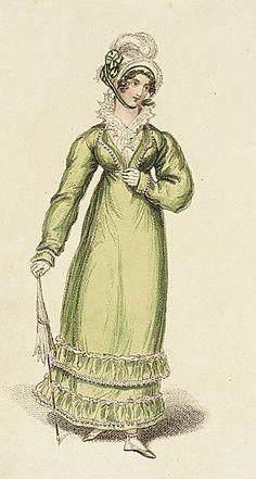Walking dress - June 1815 - La Belle Assemblee