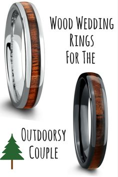Wooden wedding rings inlaid with a beautiful koa wood. These wood rings are both suitable for men and women. The only wood wedding rings that are both durable and waterproof.