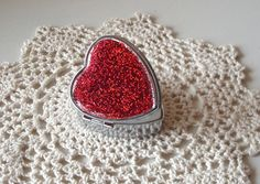 Valentine's Day Gift  Heart Shaped HOLOGRAPHIC Red by makingtimetc