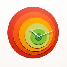 Another colorful clock to love.  This one from Progetti.