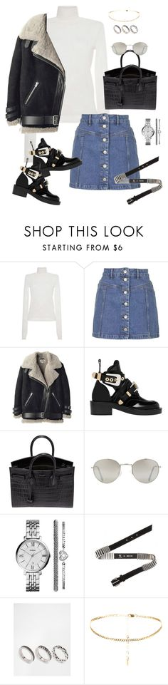 """Untitled #786"" by minhie-inspiration ❤ liked on Polyvore featuring MSGM, Topshop, Acne Studios, Balenciaga, Yves Saint Laurent, Forever 21, FOSSIL, McQ by Alexander McQueen and ASOS"