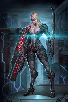 Future Soldier, JeongSeok Lee on ArtStation at… Monster Characters, Sci Fi Characters, Illustration Girl, Character Illustration, Post Apocalyptic Clothing, Fantasy Female Warrior, Cyberpunk Girl, Future Soldier, Lee