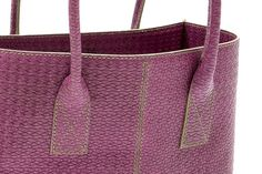 #Borsa in pelle glicine - Dark pink leather #handbag - #clutch #shoulderbag