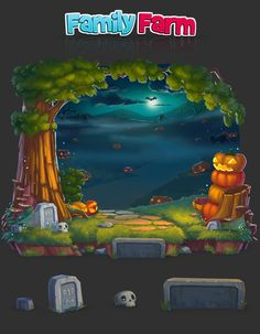 Some of the game panels I did for FamilyFarm project:)
