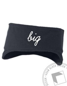 Big Embroidered Earwarmer (available in black, navy, and red) by ABD BlockBuy! Just $19.50-21.50 each plus shipping until 11/4 | Adam Block Design | Custom Greek Apparel & Sorority Clothes |www.adamblockdesign.com