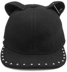 Karl Lagerfeld Women's Choupette Cat Cap Black