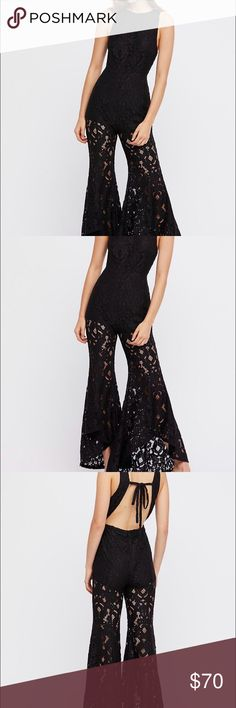 Free People Jumpsuit NEVER WORN* NEW WITH TAGS*  how it fits: I'm 5,3 and it hit my legs a little lower than it did on the model, so if you're short, it won't hit as high on your upper thigh *** Free People Other