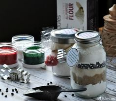The beauty behind these cute gluten free cookie mixes in jars is that when you start with allergen-free ingredients, they make great gifts for anyone!