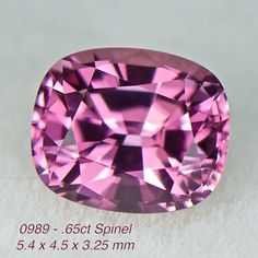 0989 - .65ct pink Spinel - Burma 5.4 x 4.5 x 3.25 mm clean, nice cut, $75 shipped