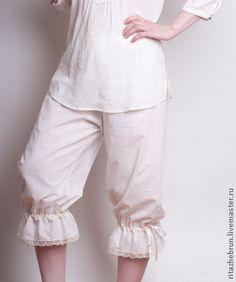 Белье ручной работы. Заказать Женские панталоны. Rita Zhebrun. Ярмарка Мастеров. Хлопок, Нежное, ретро, шелковая лента