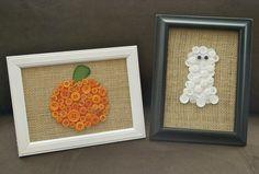 Cute button art...Pumpkin and Ghost from A Pumpkin And A Princess