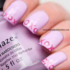 MYNAILPOLISHONLINE valentine #nail #nails #nailart