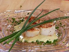 Seared Jumbo Scallops with a Champagne-Vanilla Butter Sauce recipe from Emeril Lagasse via Food Network