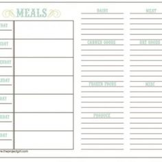 Plan your meal and prepare your grocery list all at once...great idea!