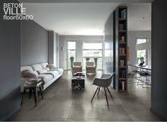 Basic betonlook vloertegels 60x60 in warme zacht grijze tint (tegelboetiekdussen.nl)