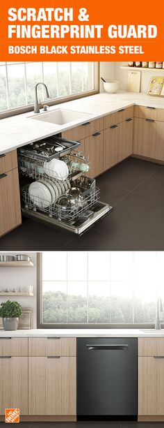 Add Sophistication And Style To Your Kitchen Design With The Bosch 800 Series Dishwashers Black