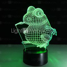 1PC Touch 3 D LED Colorful Vision Lamp Gift Atmosphere Desk Lamp Change Color Night Light 2016 - $26.99