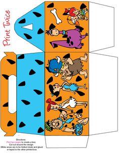 Flintstones printable favor box Print 2