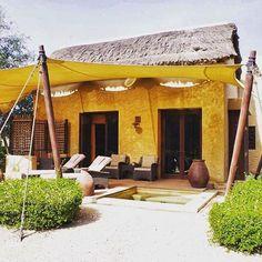 The Arabian thatched themed villas at Al Sahel Villas by Anantara.