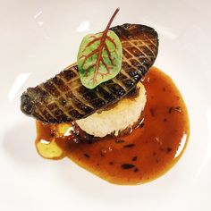 Third course: Seared Foie Gras with Caramelized Onions, Toasted Brioche and Macallan 18 Year Au Poivre Sauce.