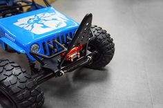Xtra Speed Steel V Front Heavy Duty Bumper w/ Winch Mount & Shackle for AXIAL WRAITH #XS-AW230052BK