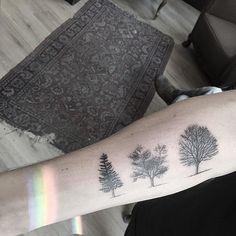 Trees & rainbows  @tattoostudiofriendship