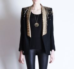 Michel Klein Sequined jacket and Mallarino necklace #luxury #modewalk