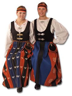 Alavus and Kuortane History Of Finland, Folk Costume, Costumes, European Dress, Embroidered Tunic, Ancient History, Traditional Dresses, Folklore, Helsinki