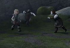♥ Hiccup and Astrid moment from episode 14 of Defenders of Berk ♥